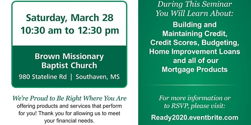 BancorpSouth Homebuyer Seminar-Brown Baptist