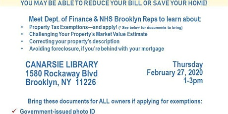 Property Tax & Mortgage Help Event tickets