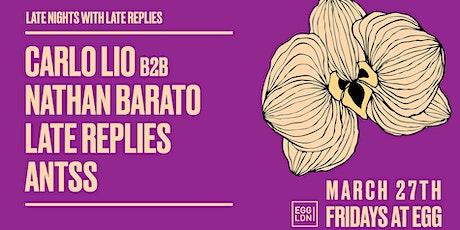 Fridays at EGG: Carlo Lio B2B Nathan Barato & Late Replies tickets