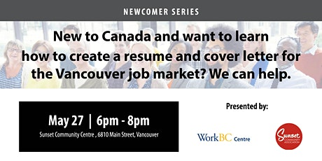 Resumes & Cover Letters for the Vancouver Job Market: A Free Workshop tickets