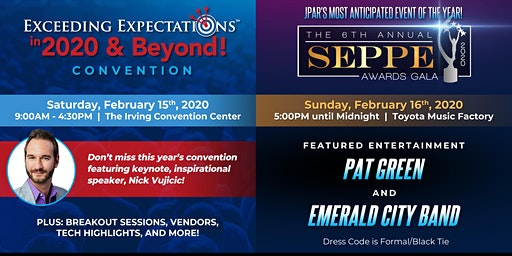 Seppes Weekend 2020: Exceeding Expectations™ Convention & Awards Gala