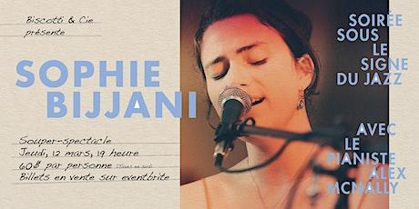 Sophie Bijjani, soirée sous le signe du Jazz billets
