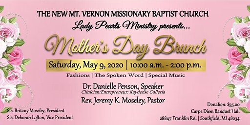 Lady Pearls Ministry's Pre Mother's Day Brunch