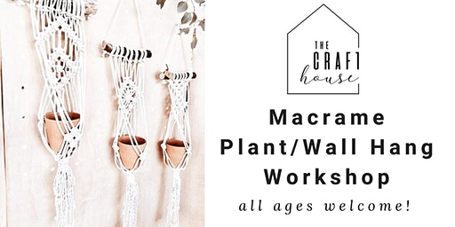 Macrame Plant/Wall Hang Workshop at The Craft House Temecula