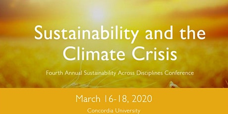 Sustainability and the Climate Crisis Conference tickets