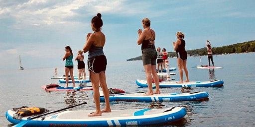 Paddle Board Yoga-45 minutes Vinyasa; 45 Meditation & Restorative on Board