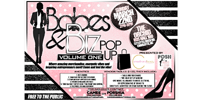 """""""Babes & Biz"""" Pop-Up Shop. Swag bags for 1st 25. Free appetizers and drinks"""