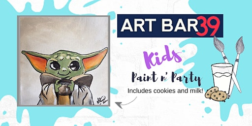 Kids Painting Party | Baby Yoda | Includes Cookies & Milk!