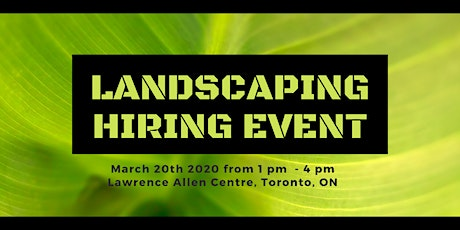 Multi-Employer Hiring Event - Landscaping and Trades tickets