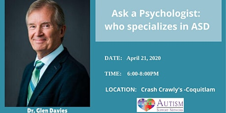Ask a Psychologist: who specializes in ASD tickets