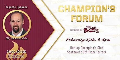 Spring 2020 Champion's Forum  tickets