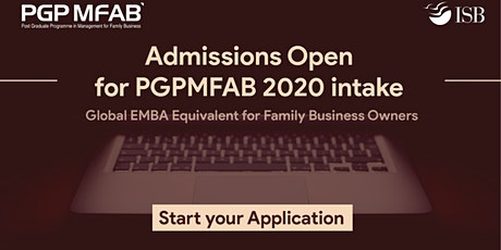 ISB (PGPMFAB)Family Business Coffee Meet at  Mohali tickets