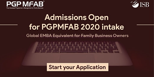 ISB (PGPMFAB)Family Business Coffee Meet at |Mohali