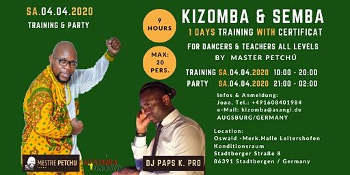 Kizomba & Semba Training with Certificat by Master Petchú