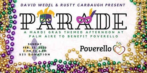 PARADE - a Mardi Gras themed afternoon at Palm Aire to benefit Poverello