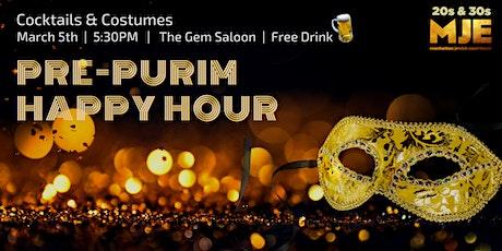 MJE Pre-Purim 2020 Happy Hour tickets