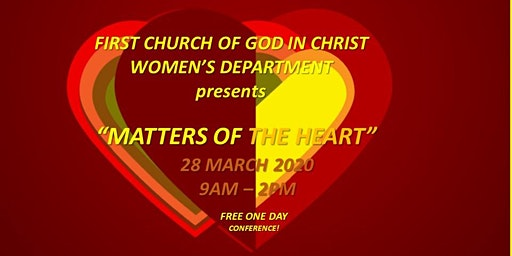 "FCOGIC ""MATTERS OF THE HEART"" ONE DAY CONFERENCE"