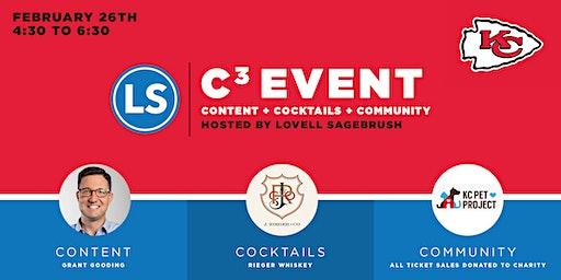 C3: Content + Cocktails + Community