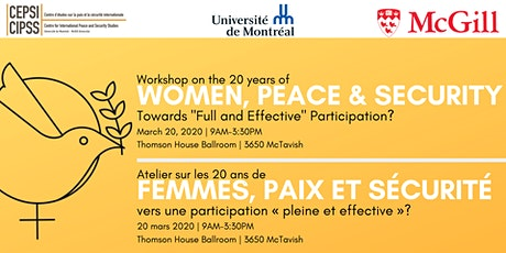 Workshop on the 20 years of Women, Peace and Security tickets