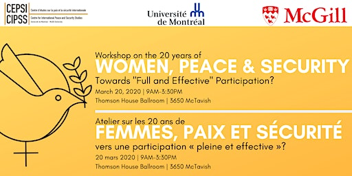 Workshop on the 20 years of Women, Peace and Security
