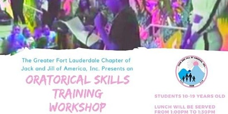 Free Oratorical Skills Training Workshop for Youth Ages 10-19 Years Old tickets