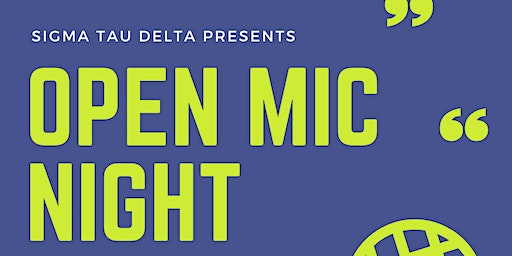 Open Mic Night hosted by Sigma Tau Delta at FIU