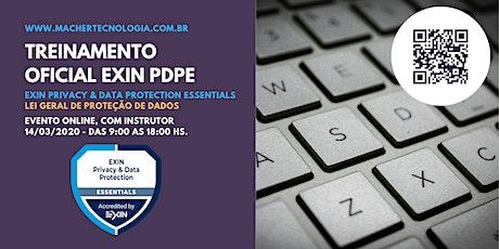 Treinamento para a Lei Geral de Proteção de Dados - LGPD - EXIN PDPE - bilhetes