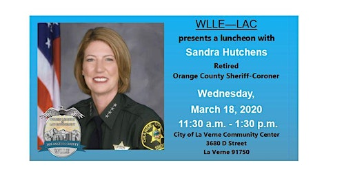 WLLE-LAC training/luncheon with Sandra Hutchens, Retired OC Sheriff-Coroner