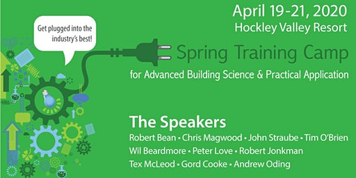 Spring Training for Advanced Building Science and Practical Application 2020