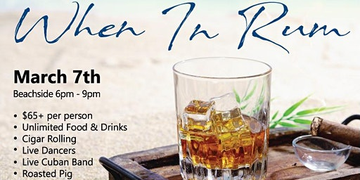 When in Rum - a Food + Cocktail Experience on the Beach