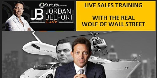 Jordan Belfort LIVE !  STRAIGHT LINE SALES With The Wolf of Wall Street