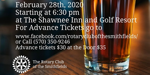 Rotary of the Smithfields Beer Tasting Fundraiser 2020