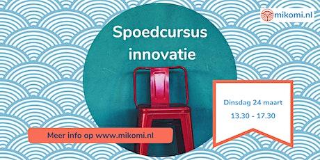 Spoedcursus Innovatie (locatie Haarlem) tickets