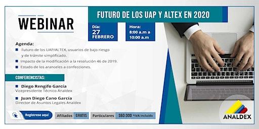 Webinar: Futuro de los UAP y ALTEX en 2020