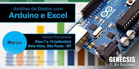 Análise de Dados com Arduino e Excel ingressos
