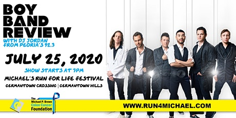 Boy Band Review at Michael's Run for Life Festival tickets