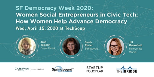 Women Social Entrepreneurs in Civic Tech: How Women Help Advance Democracy