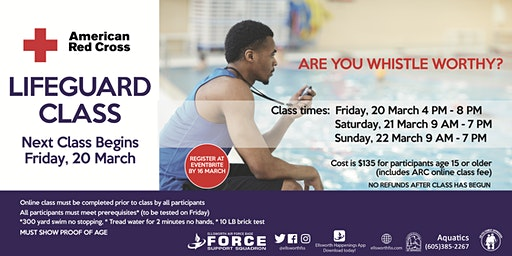 Ellsworth AFB Lifeguard Classes March