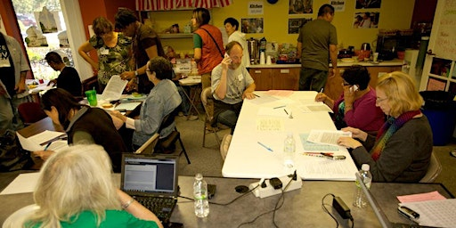 DemAction East Bay - El Sobrante Phone/Text Bank registering in swing states.