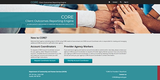 CORE Basic Training for Providers Reporting Quarterly (Southside, Morning session)