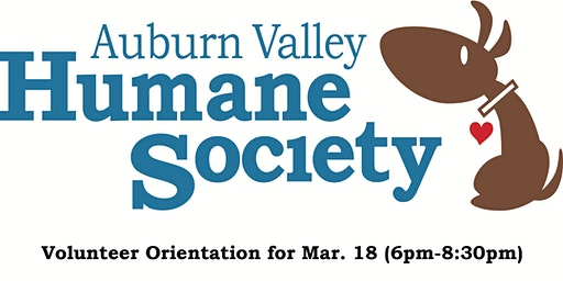 AVHS Volunteer Orientation for Mar. 18th (6pm-8:30pm)