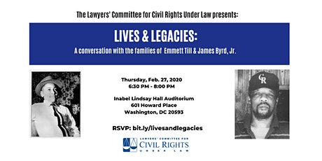 Lives & Legacies: A Conversation with the families of Emmett Till and James Byrd, Jr. tickets