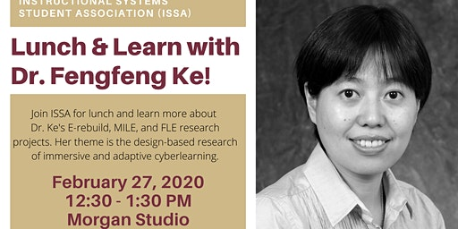 ISSA Lunch & Learn with Dr. Fengfeng Ke