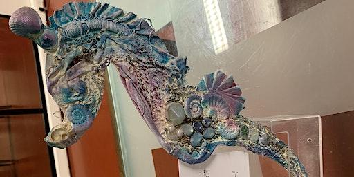 Creative Seahorse Wall Art Workshop! #powertex