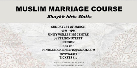 MUSLIM MARRIAGE COURSE tickets