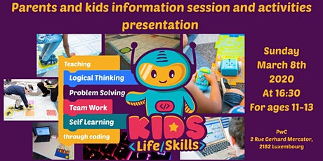 Coding and logical thinking for 11-13 yo kids! Parents & Kids info session tickets