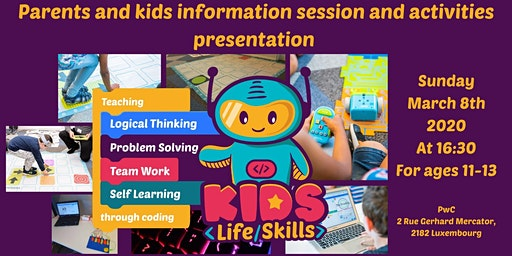 Coding and logical thinking for 11-13 yo kids! Parents & Kids info session