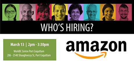 Who's Hiring? Amazon tickets