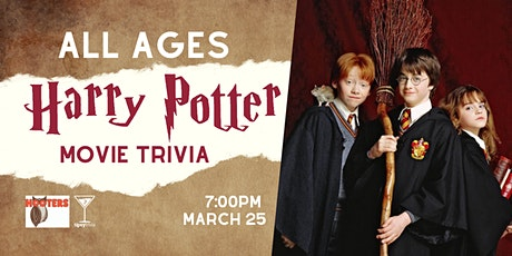 ALL AGES Harry Potter Trivia - March 25, 7:00pm - YEG Hooters tickets