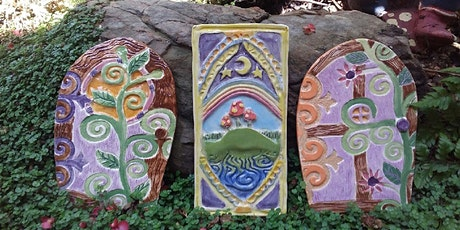 Intro to hand build pottery for kids - Fairy & Elf Tree Stump doors tickets